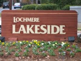 Lochmere Neighborhood Entrance off of Kildaire Farm Road
